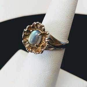 Labradorite ring in Sterling Silver Sz 5.5